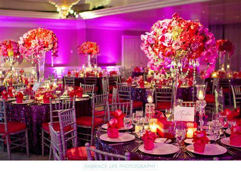 Pink And Purple Wedding Reception Decor