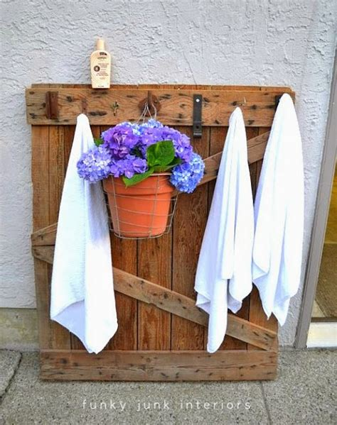 outdoor towel rack check out these towel racks or coat racks made from