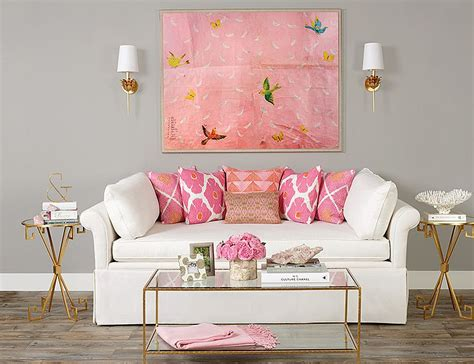 Living Room Color Pink by 20 And Cheerful Pink Living Rooms