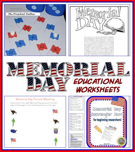 memorial day educational activities for free