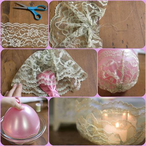 diy simple lace candle holder diy projects usefuldiycom