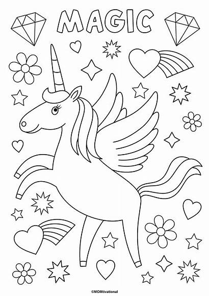 Unicorn Coloring Pages Fun Children Printables