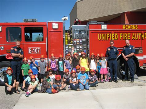 second grade visits the station