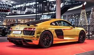 Audi R8 V10 Plus : golden audi r8 v10 plus revealed gtspirit ~ Melissatoandfro.com Idées de Décoration