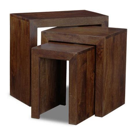The box shaped steel metal base with black finish mixed with solid mango wood fits smoothly into most modern, contemporary or eclectic home. Mango Chunky Nest   Dark wood furniture, Solid mango wood, Coffee table