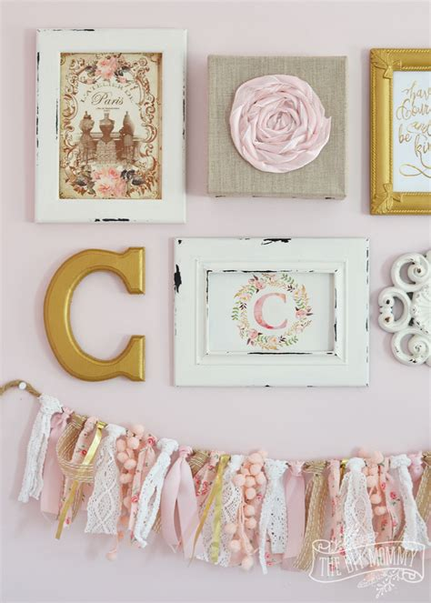 Cute Kitchen Decorating Ideas - a thrifted shabby chic gallery wall and l makeover 12monthsofdiy the diy mommy