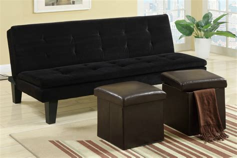 black fabric sofa bed poundex f7197 black twin size fabric sofa bed steal a