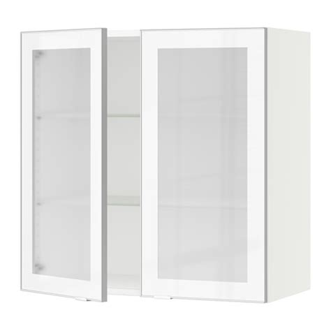 white glass cabinet doors sektion wall cabinet with 2 glass doors white jutis