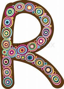 "Beautiful letter ""R"" Stock Vector Colourbox"