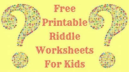 Printable Riddle Worksheets Riddles Children