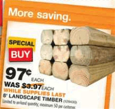home depot hot  ft landscape timbers