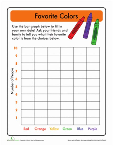 1st grade math worksheet bar graphs bar graphs favorite color worksheet education