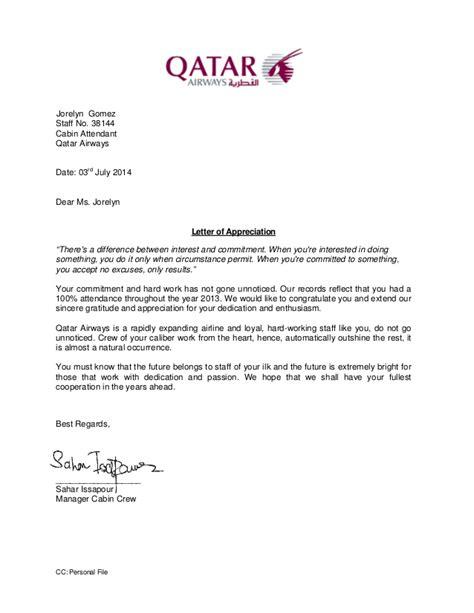 letter of appreciation letter of appreciation 2013