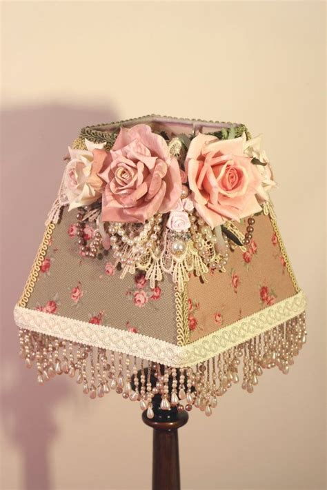 Shabby Chic Cottage Style Shabby Chic Cottage Style L Shade Flower And Ribbon