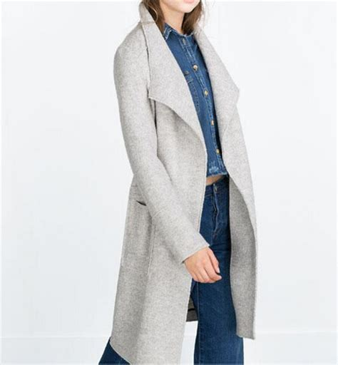 light grey long coat aliexpress com buy 2015 autumn winter new genuine womens