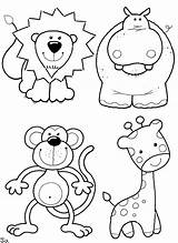 Coloring Animals Pages Print Cute sketch template
