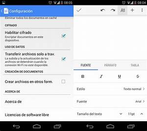 Google docs se redisena anade soporte para android l y for Google docs android 4