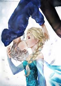 Queen Elsa and Jack Frost Drawings