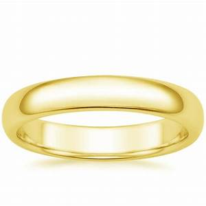 4mm comfort fit men39s wedding ring in 18k yellow gold With comfort fit wedding rings