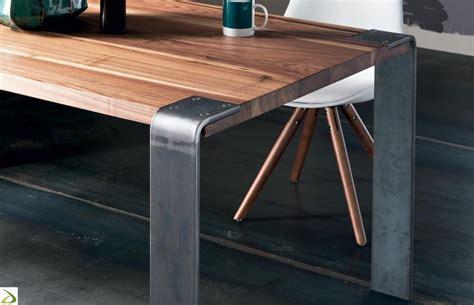 tavolo ferro legno tavolo con gambe vetro o ferro madrid arredo design