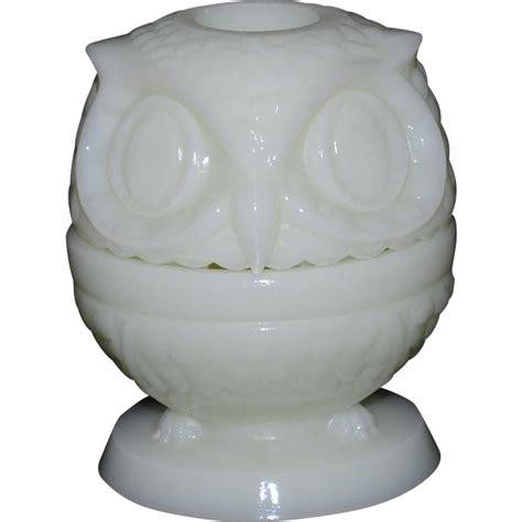 fenton owl l fenton shiny custard owl light from thedaisychain on