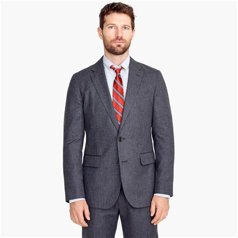 jcrew ludlow slim fit unstructured suit jacket  english wool cotton twill  gray  men lyst