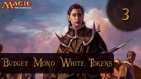 Mtg Budget Deck Standard League Mono White Tokens Match 3