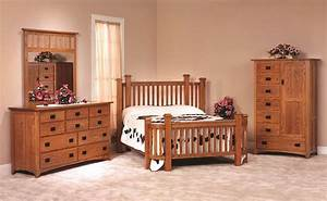amish made oak mission bedroom set With bedroom furniture sets made in america