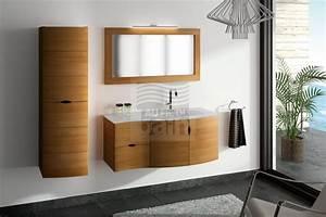 Caillebotis Bois Salle De Bain : meubles de salle de bains suspendus bois collin arredo ~ Premium-room.com Idées de Décoration