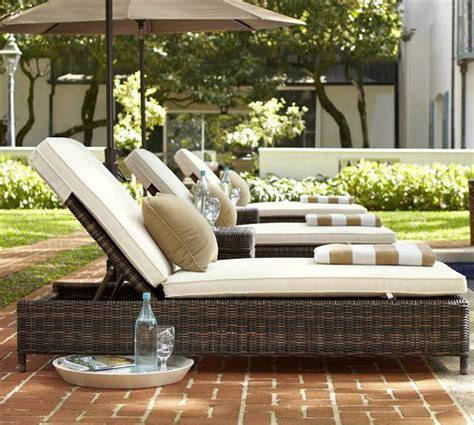 Pottery Barn Chaise Lounge by Torrey All Weather Wicker Single Chaise From Pottery Barn