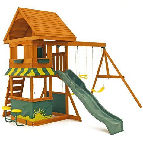 Big Backyard Playset by Big Backyard Magnolia Wooden Swing Set Reviews Wayfair