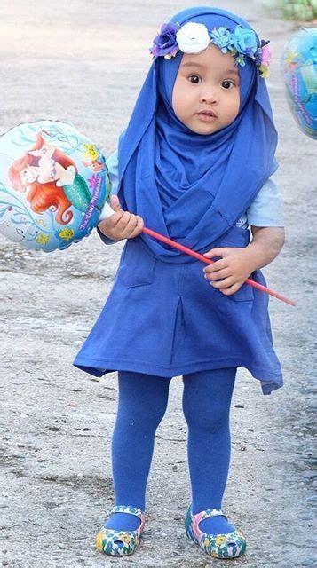 gaya hijab lucu  menggemaskan  anak anak ide