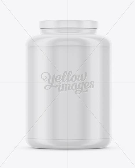 This mockup is available for purchase on yellow images only. 4Lb Plastic Glossy Protein Jar Mockup in Jar Mockups on ...