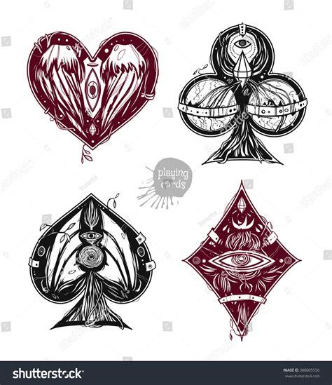 design card suits clubs diamonds hearts stock vector