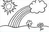 Coloring Rainbow Pages Sun Clouds Cumulus Sunrise Cloud Drawing Adults Magic Printable Popular Cycle Cell Colouring Most Getdrawings Getcolorings Trout sketch template