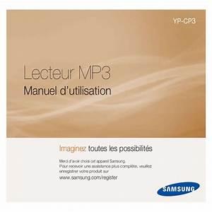 Enregistrer Produit Samsung : notice samsung cp3 lecteur mp3 trouver une solution un probl me samsung cp3 mode d 39 emploi ~ Nature-et-papiers.com Idées de Décoration