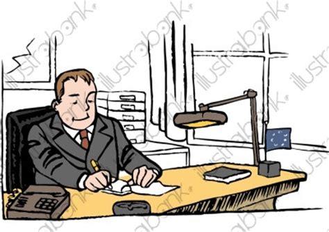 le de la secretaire dans une entreprise un chef d entreprise dans bureau illustration au bureau libre de droit sur illustrabank