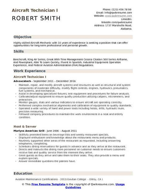 technician resume sles exles and tips