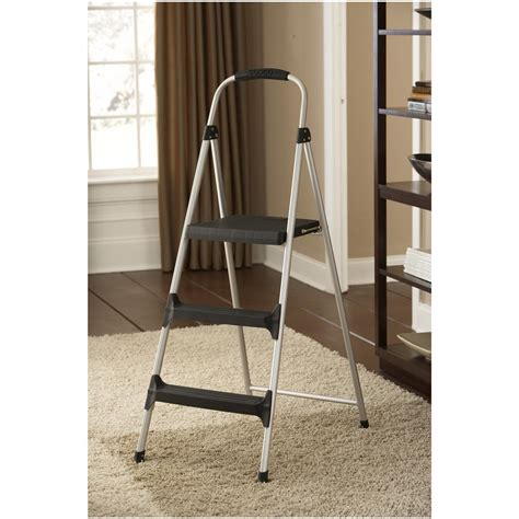 cosco 174 3 step step stool 618756 ladders storage at sportsman s guide