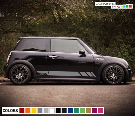 mini side cooper sticker decal kit stripe body door decals hatch handle classic cool vehicle engine cars