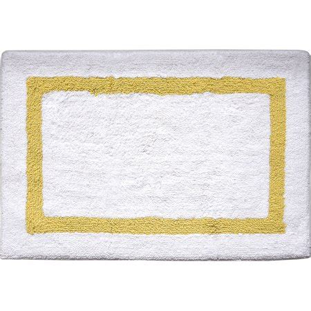 mainstays hotel cotton gold border    bath rug