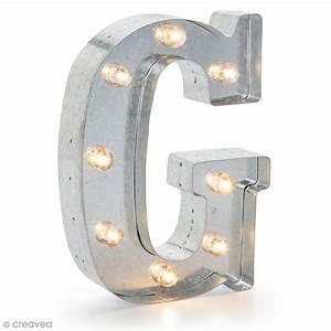 Lettre Metal Vintage : lettre lumineuse en m tal vintage g 25 x 19 x 4 5 cm lettre lumineuse led creavea ~ Teatrodelosmanantiales.com Idées de Décoration