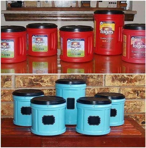 Fabulous folger's coffee plastic container upcycle. 31 best Coffee cans/plastic craft ideas images on Pinterest | Plastic craft, Coffee cans and ...