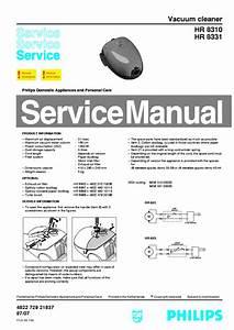 Philips Hr8310 Hr8331 Vacuum Cleaner Service Manual