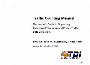 Traffic Counting Manual - The Insider U0026 39 S Guide