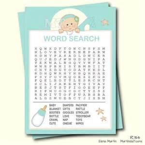 Printable Baby Shower Bingo Picture