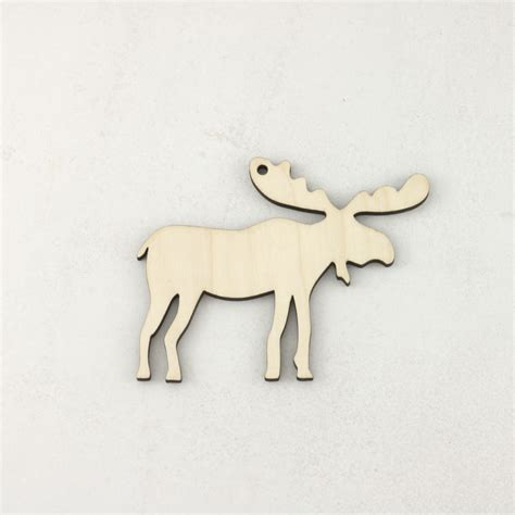 wooden christmas moose craft blank decorations artcuts