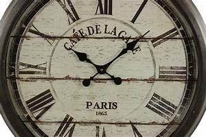 Grande Horloge Industrielle : grande horloge ancienne murale cafe de la gare 70cm ~ Teatrodelosmanantiales.com Idées de Décoration