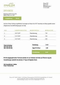 Pflichtangaben Rechnung 2017 : kostenlose rechnungsvorlagen f r word ~ Themetempest.com Abrechnung