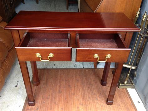 Bombay Company 2 Drawer Hall/entryway Table Central